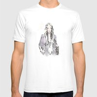 Flair Mens Fitted Tee White SMALL