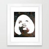 Blonde Diva Framed Art Print