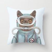 Scuba Cat Throw Pillow