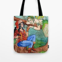 The Wood Nymph and the Lumberjack Tote Bag