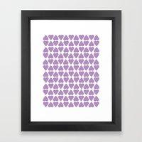 Diamond Hearts Repeat O Framed Art Print