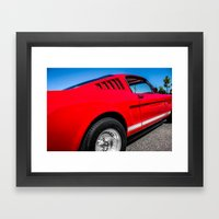 1965 Red Fastback Ford M… Framed Art Print