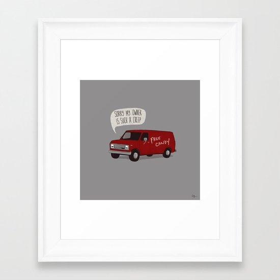 Creeper Van Framed Art Print