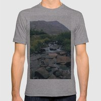 Blue lake Mens Fitted Tee Athletic Grey SMALL