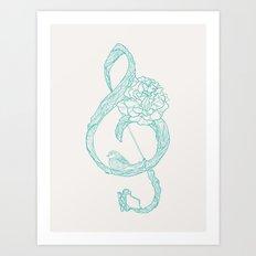 G-Clef Art Print