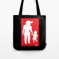 Tote Bag featuring Strange Candy Art by Sheep-n-Wolves Clothing