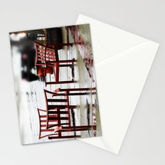 Chairs Arranged in the Rain Stationery Cards