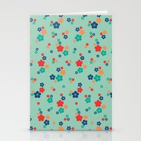 Blossom Ditsy In Grayed … Stationery Cards