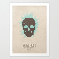 Ghost Rider : Spirit of Vengeance - minimal poster Art Print