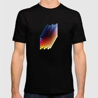 LollyStick Rainbow Mens Fitted Tee Black SMALL