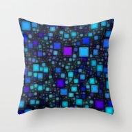 Post It Blue Glow Throw Pillow