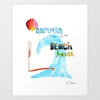 Summer At The Beach Hous… Art Print