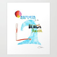 Summer At The Beach Hous… Art Print