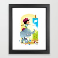 Painting Day Framed Art Print
