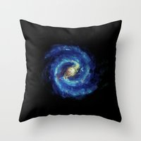 The Milky Way Galaxy - Painting Style Throw Pillow