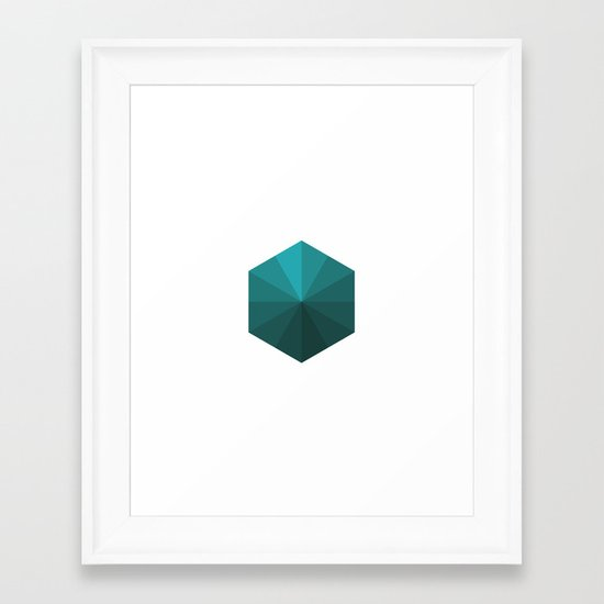#120 A box of rays – Geometry Daily Framed Art Print