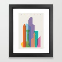 Shapes of Seattle accurate to scale Framed Art Print