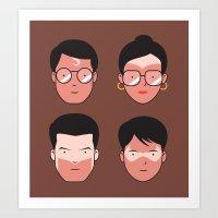 Superhero Tan Lines Art Print