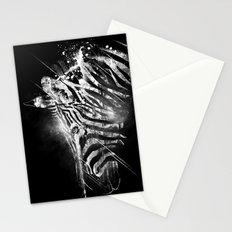 Zebra Mood - White Stationery Cards
