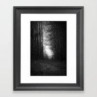 In the deep dark forest... Framed Art Print