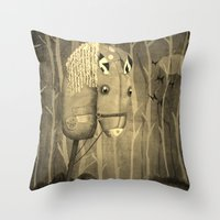 The Hobby Horse Throw Pillow