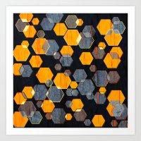 Construct Hex V3 Art Print