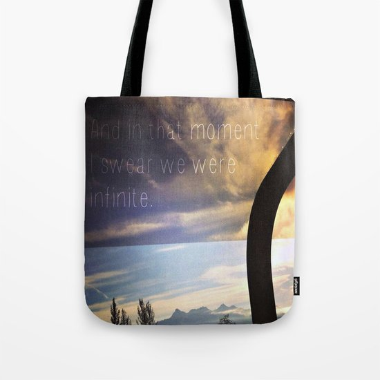 """And in that moment I swear we were infinite.""  Tote Bag"