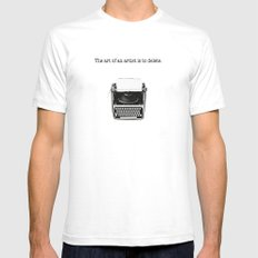 typewriter SMALL Mens Fitted Tee White