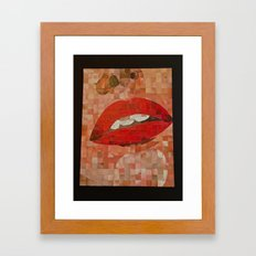 Chuck CLose Lips Framed Art Print