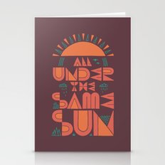 All Under the Same Sun Stationery Cards