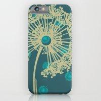 DANDELIONS TURQUOISE iPhone 6 Slim Case