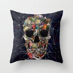 Fragile Skull Throw Pillow