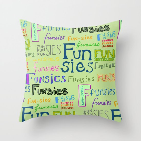 Funsies Throw Pillow