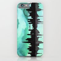 Mint Green London Skyline 2 iPhone 6 Slim Case