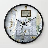 In The Bathroom Wall Clock