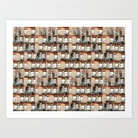 windows of NYC Art Print
