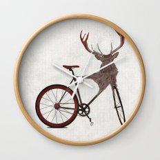 Stag Bike Wall Clock