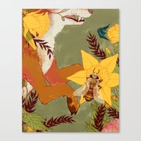 In Our Grandmother's Gar… Canvas Print