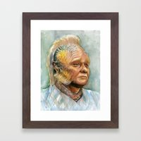 Neelix Star Trek Watercolor Portrait Framed Art Print