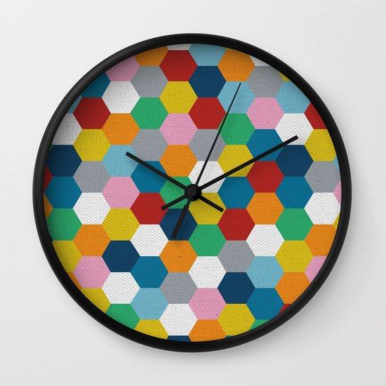 Honeycomb 3 Wall Clock