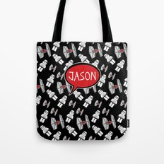 Personalized Tie Fighters Tote Bag