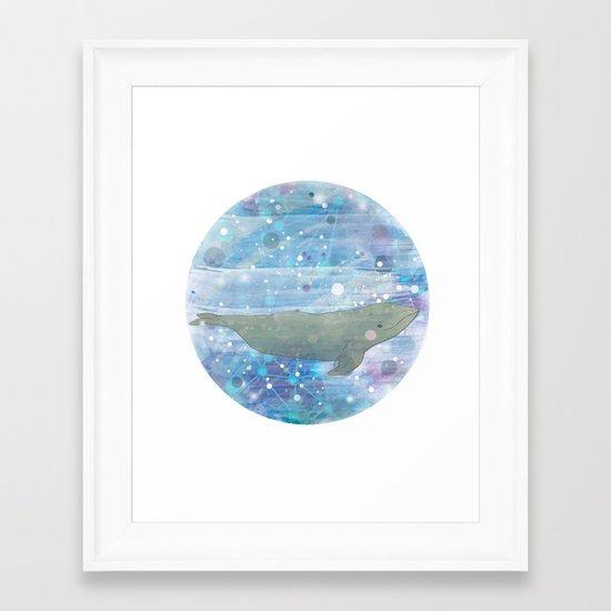 Illustration Friday: Round Framed Art Print