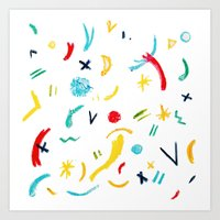 Funky Pastels Art Print