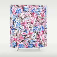 Wandering Wildflowers Pi… Shower Curtain