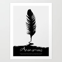 Anonymous - minimal poster Art Print
