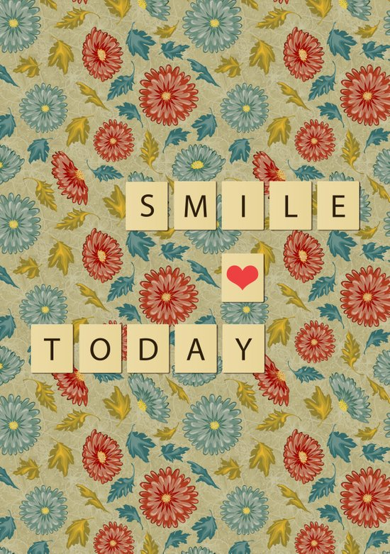 Smile Today Art Print