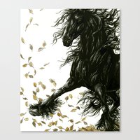 Autumn Friesian Canvas Print