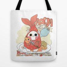 Aqua cat_ Rappa Tote Bag