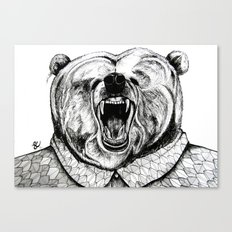 He was like a bear! Canvas Print