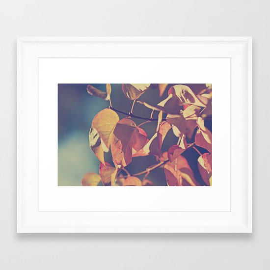 Color of the Leaves Framed Art Print